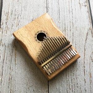 Индивидуальная гравировка 17 ключей калимба африканская твердая сосна красного дерева палец пианино Sanza Mbira Calimba Музыкальные инструменты