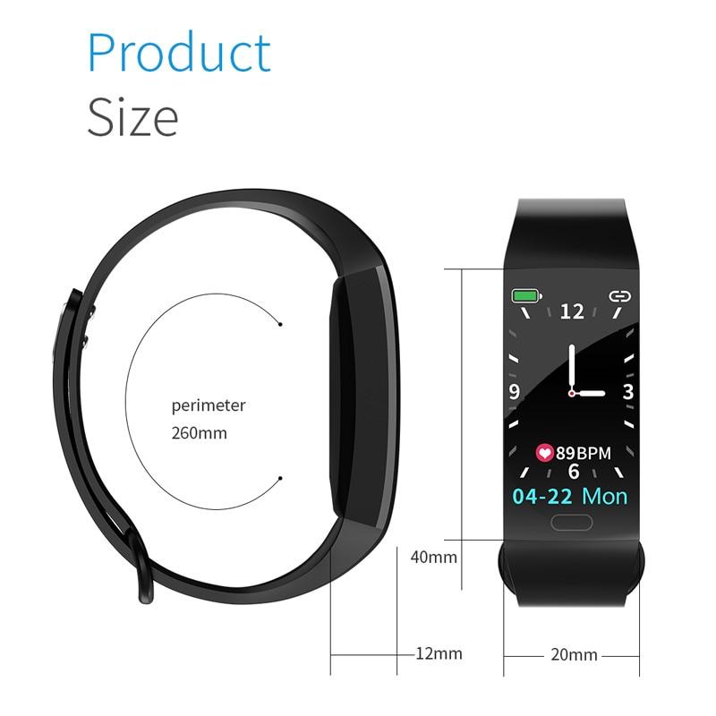 Uc8a5f54ae14e40cea5a05cae46234585S Smart Bracelet Band Measuring Pressure Clock Fitness Bracelet Heart Rate Activity Tracker bracelet smart Wristband Waterproof