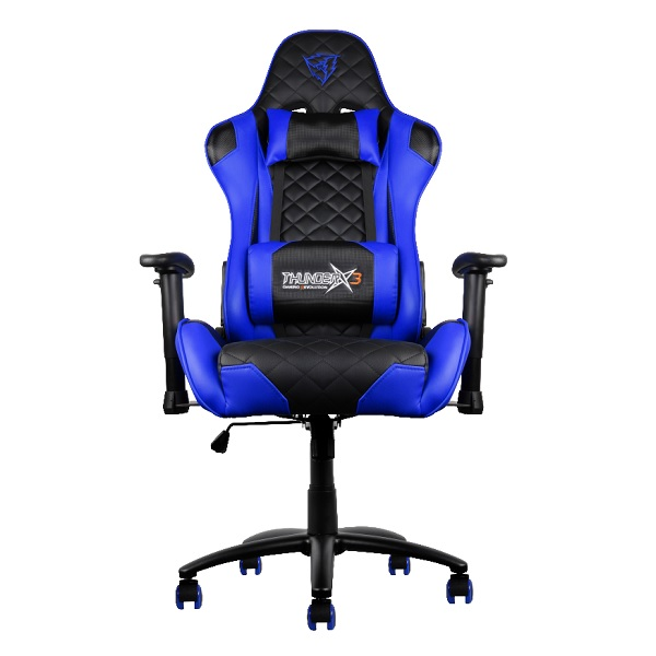 Chair Gamer Pro Thunderx3 Tgc12bb Color Black/blue Up Seat Recliner Rests Adjustable Arms Finish Piel Hidr Base