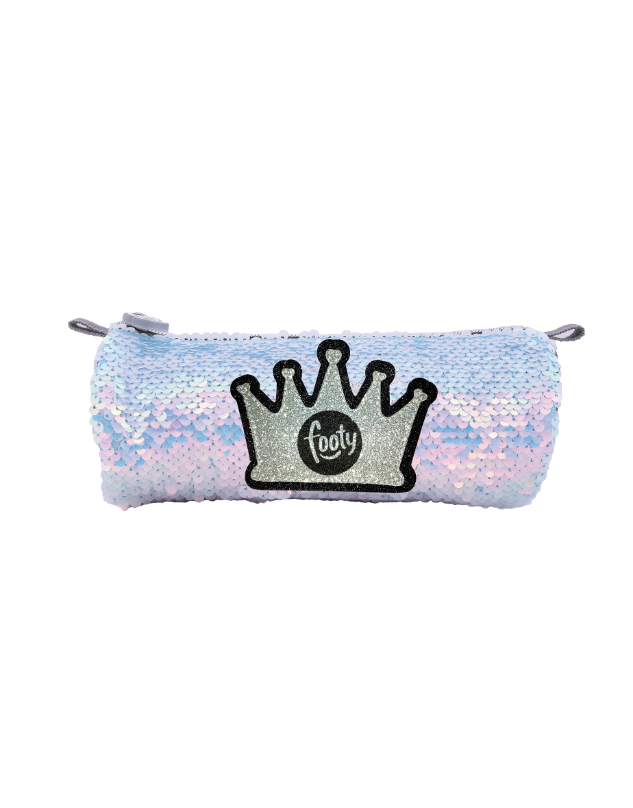 FOOTY Case Silver Crown With Sequins
