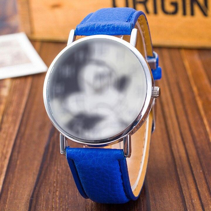 Новые женские часы с милым животным узором Модные Кварцевые Часы повседневные Мультяшные кожаные часы для девочек детские наручные часы