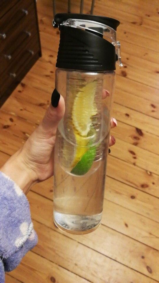 800 ML Portable fruit Infusing Infuser Water bottle Sports Lemon Juice Bottle Flip Lid for kitchen table Camping travel outdoor Water Bottles     - AliExpress
