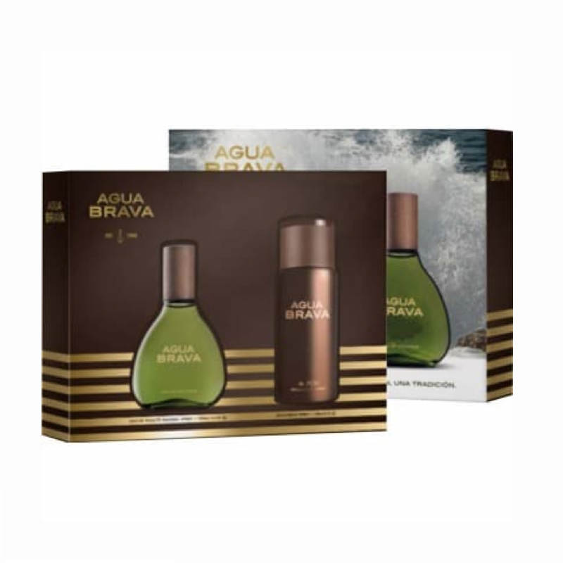 Brava Water Cologne Case, Eau De Cologne 100 Ml, With Vaporizer, With Spray Deodorant 150 Ml, Colony Man