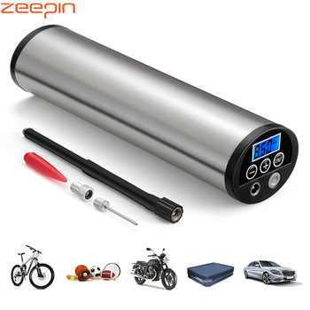 150PSI Mini Inflator Electric Portable Car Bicycle Bike Pump Electric Auto Air Compressor Bicycle Pumps EU PLUG with LCD Display