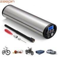 150psi mini inflator elétrico portátil carro bicicleta bomba de carro elétrico compressor de ar automático bombas da ue plug com display lcd|Bomba inflável| |  -