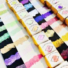 Ręcznie robione metaliczne farby akwarelowe zestaw pół patelnie Acuarela Nail Art Aquarelle akwarele wykonane z niemieckiego kosmetycznego Pigment perłowy