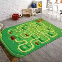 Rabbit and Maze Non Slip Floor Carpet, Teen's Carpet