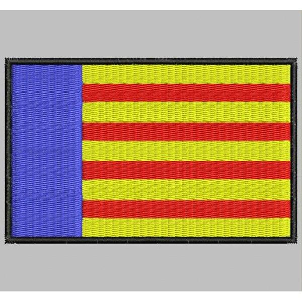 Bandera VALENCIA Para Mascarilla Parche Bordado Iron Patch Toppa Ricamata Gestickter Patch Patch Brode