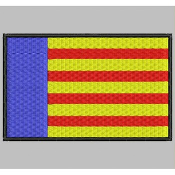 Bandera VALENCIA Para Mascarilla Parche Bordado Iron Patch Toppa Ricamata Gestickter Patch Patch Brode