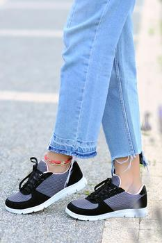 Różowy Potin kobiety czarne wędzone buty A1971-20 tanie i dobre opinie Pembe Potin Oksfordzie TR (pochodzenie) Sztuczna skóra Gumką Pasuje prawda na wymiar weź swój normalny rozmiar Na co dzień