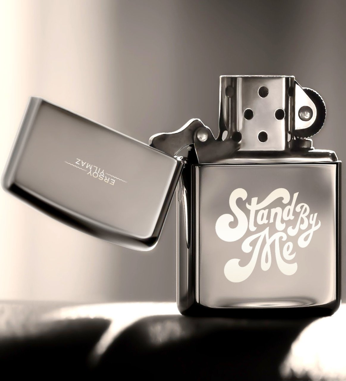 Tailor made Me Stay Gasoline Silver Gray Metal Lighter Cigar Accessories     - title=