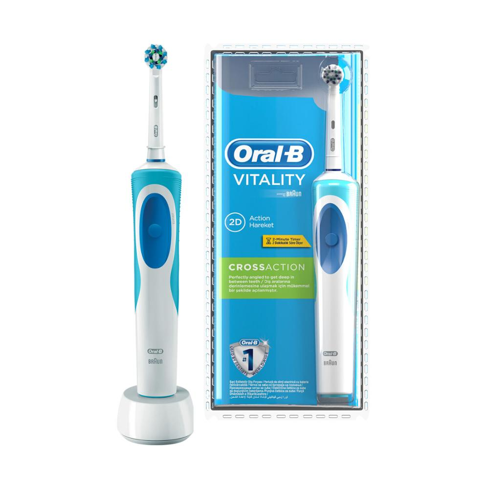 Oral-B Braun pro vitality 2D cross action +last model 2 minute timer rechargeable image
