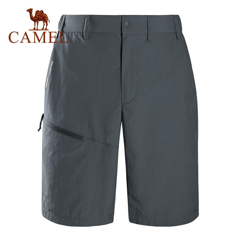 Camel Outdoor Casual Quick-drying Short  Men Clothing Men's Sport Breathable Solid Color Shorts Female