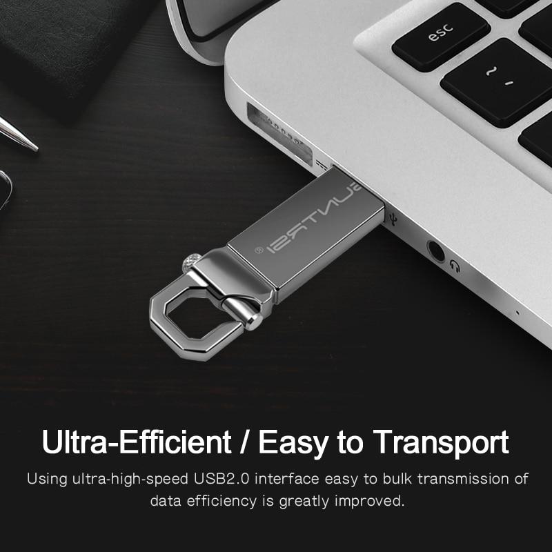 Suntrsi USB Flash Drive 2.0 Metal Pendrive High Speed USB Stick 32GB Pen Drive Real Capacity 16GB USB Flash Free Shipping