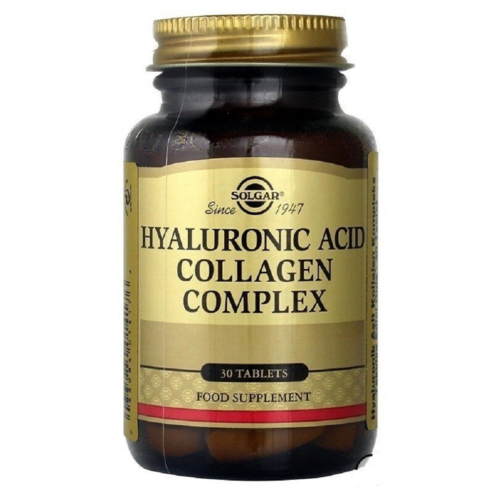 Solgar Hyaluronic Acid Collagen Complex 120 Mg 30 Capsules Tablets