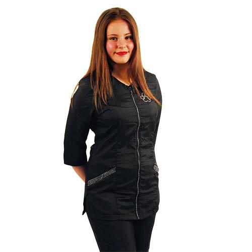 Robe Hair Salon Aleria Negro Negro ALERIA ROBE PLUS SIZE XXXL