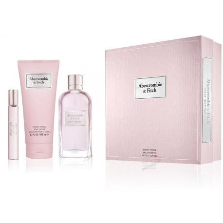 ABERCROMBIE & FITCH WOMAN FIRST INSTINCT EDP + MINIATURE 15ML LOTION +