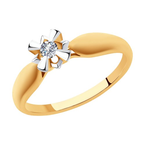 SOKOLOV Ring Gold With Diamond