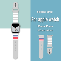 Graffiti Sport Strap For apple watch band 5 4 40mm 44mm bracelet Silicone Watchband For apple watch 4 3 2 1 38 42mm Accessories