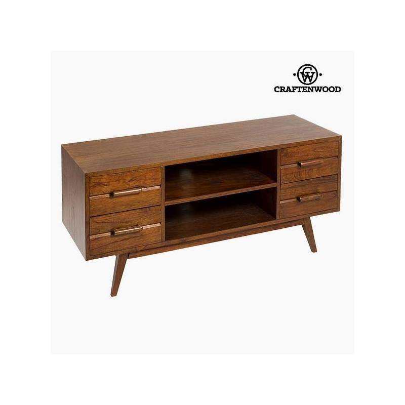 Table For TV Wood Mindi (4 Drawers) (120x40x54 Cm) Per Craftenwood