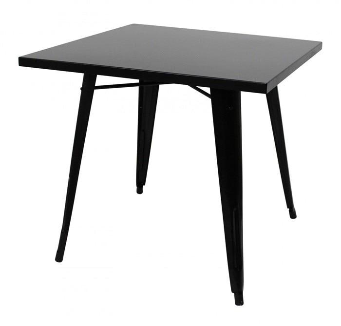 Table TOL, Steel, Black, 80x80 Cms