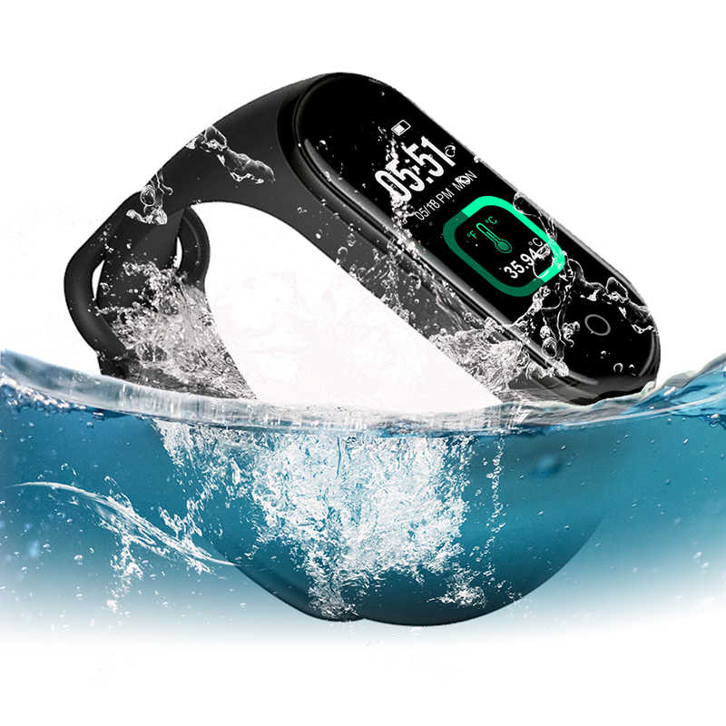M4 Pro Smart Band Body Temperatuur Test Smart Armband Bloeddruk Hartslagmeter Waterdicht Smartband Gezondheid Polsband