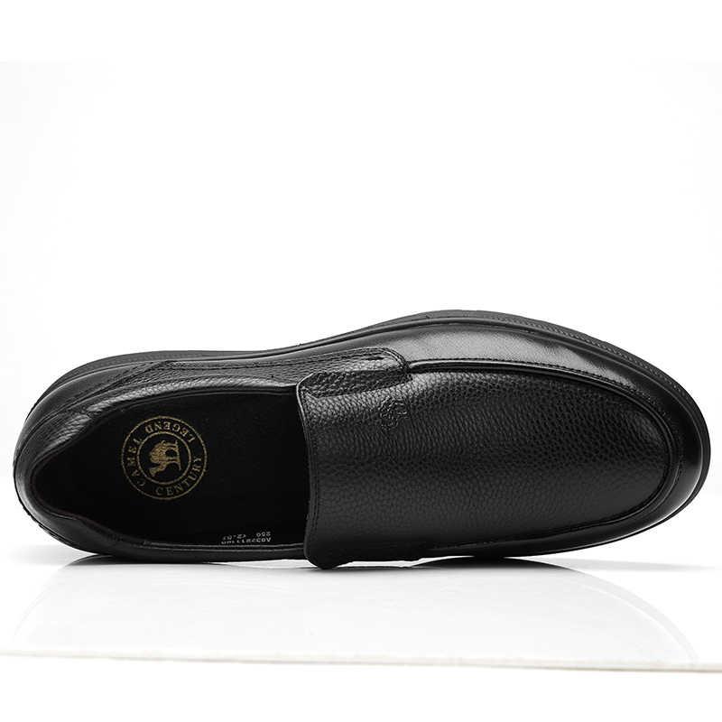 CAMEL/Мужская обувь; сезон лето-осень; мужская деловая повседневная обувь из воловьей кожи; Мужская обувь; нескользящая эластичная обувь