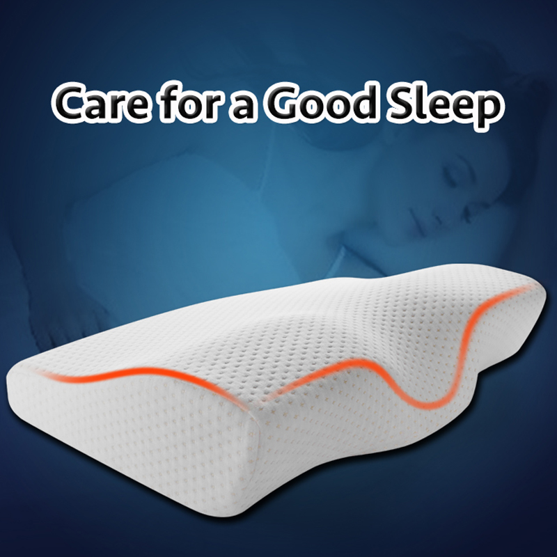 Image 2 - Memory Foam Pillow  Orthopedic Sleeping Beding Pillows Butterfly Shaped Ergonomic Cervical Pillow Comfortable Neck protection-in Bedding Pillows from Home & Garden