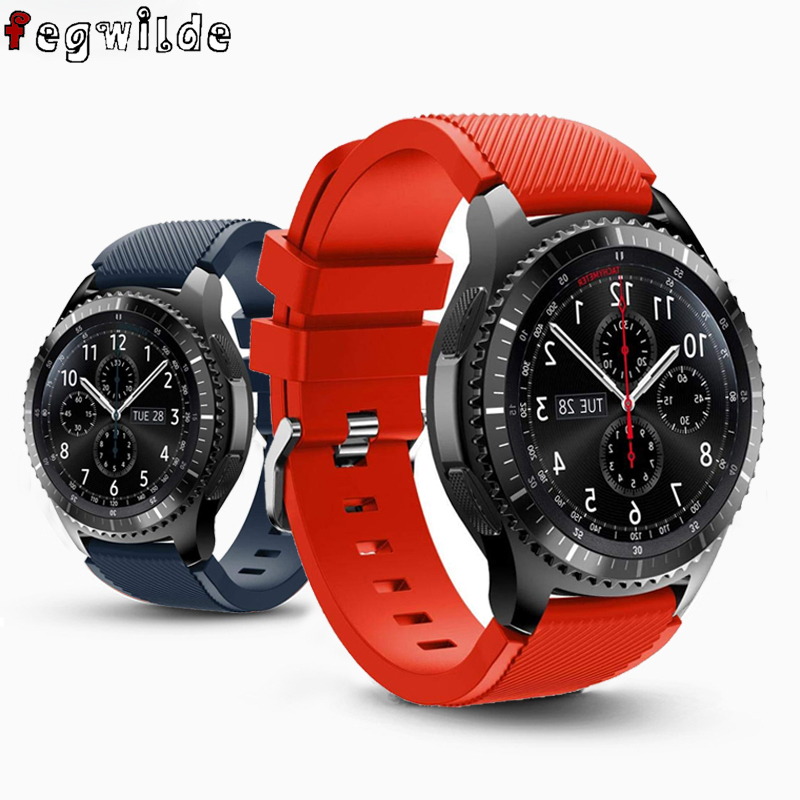 Gear S3 Frontier For Samsung Galaxy Watch 46mm 42mm Active 2 Gear Sport S2 20/22mm Watch Band Silicone Bracelet Smart Watchband