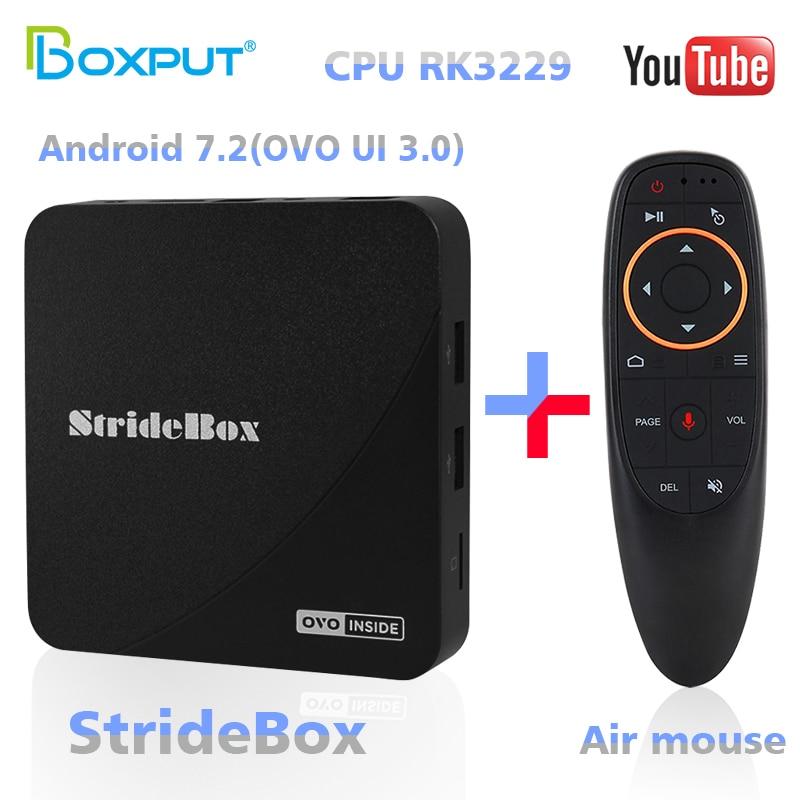 TVPAO RK3229 Stridebox A1 bezpłatne globalne IPTV członkostwa 2G Ram z Air Mouse systemem Android OTT pudełko