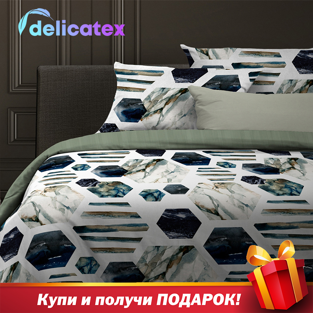 Bedding Set Delicatex 15944-1+24089-7Canaveral Home Textile Bed Sheets Linen Cushion Covers Duvet Cover Рillowcase