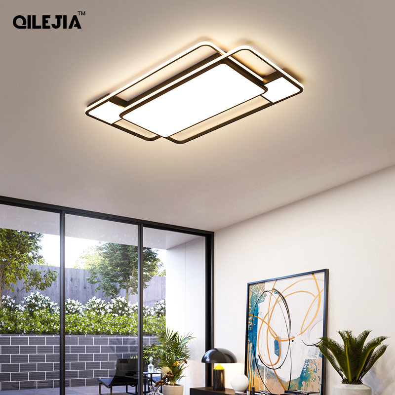 Ceiling lamp Creative personality atmosphere rectangular living room ceiling lamp modern minimalist style master bedroom lamp