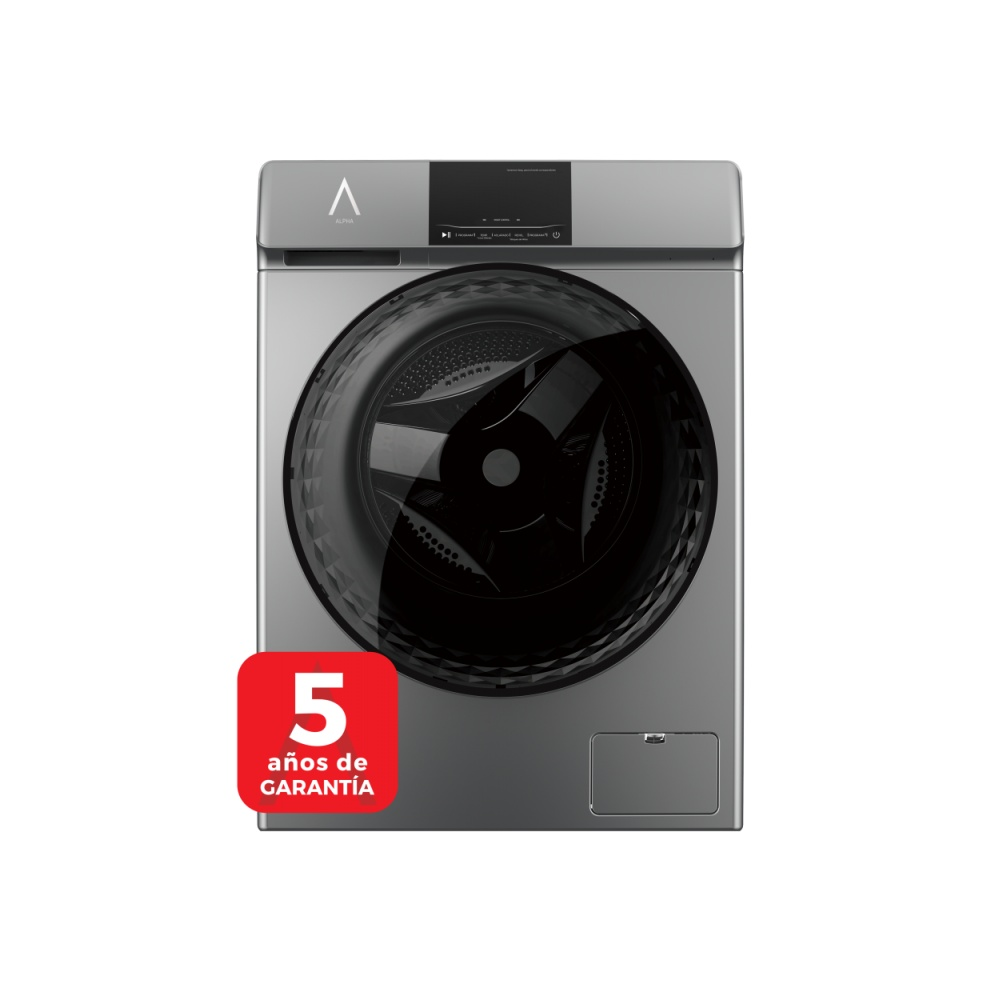 ALPHA Washing Machine TITAN Gray 9kg, Smart Inverter Engine, 1.400rpm, Door XXL, TO +++ -30%, ** High-End **
