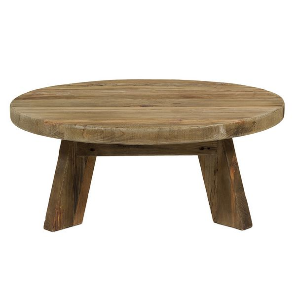 Centre Table (90 X 90 X 35 Cm) Recycled Wood
