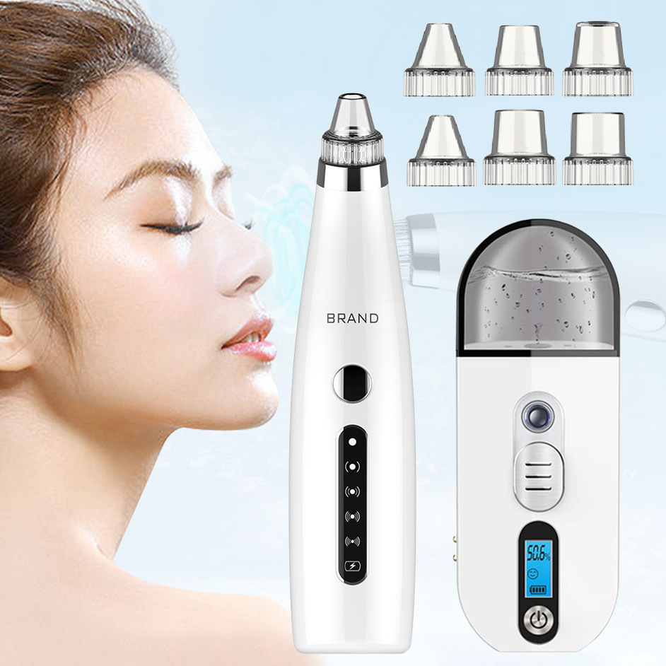 Facial Blackhead Remover Face Deep Cleaner Remove Pore Acne Pimple Black Head Vacuum Suction With Moisture Tester Skin Care Tool
