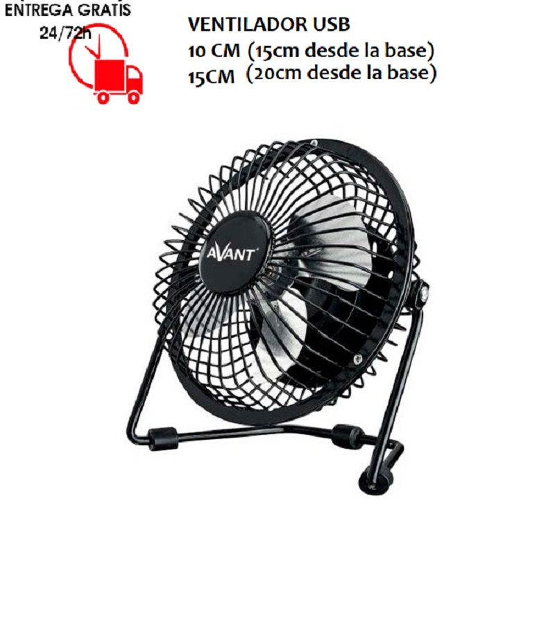 Fan Light 3v 5w Connection USB With Cable 1 Meter Metal Blades 2 Sizes Available