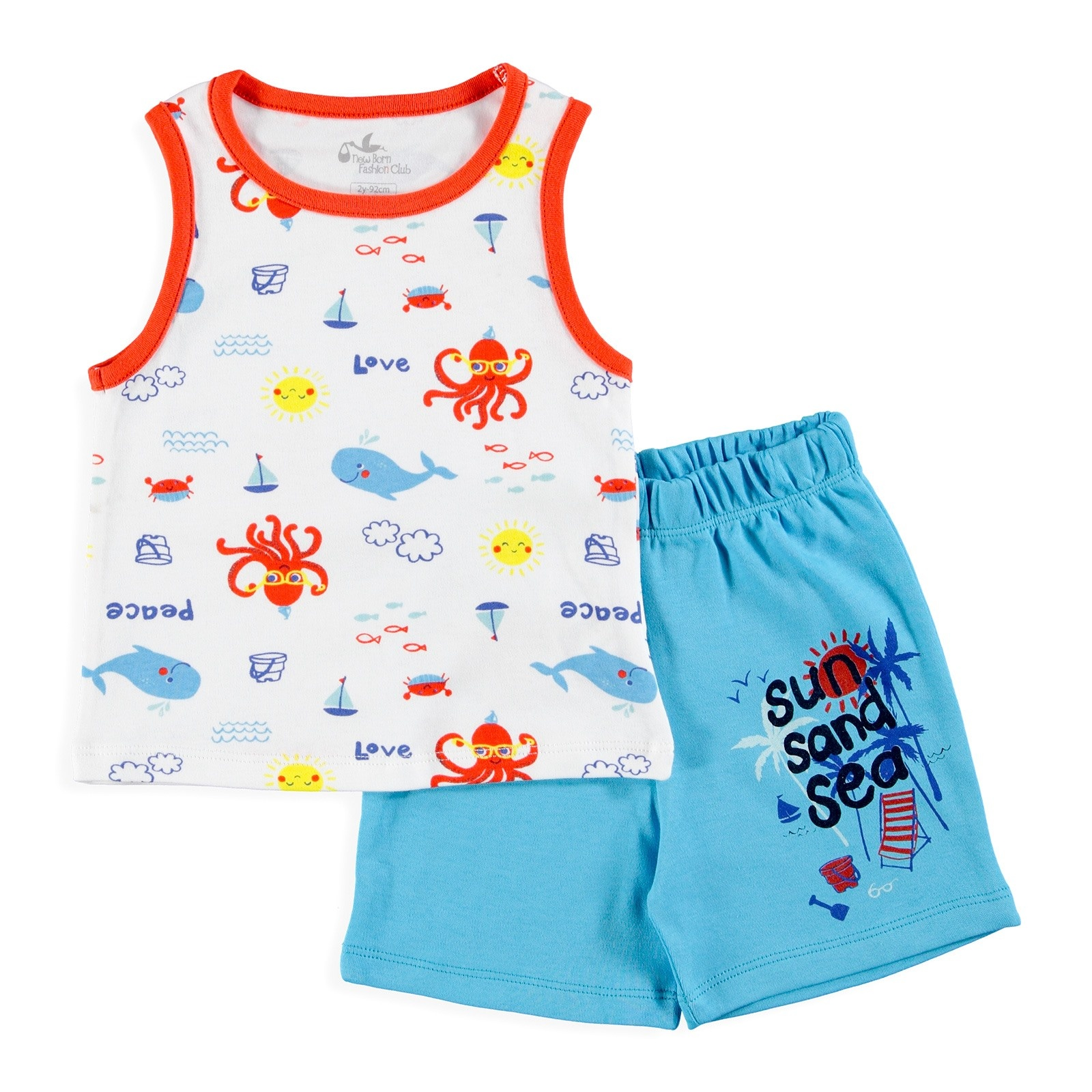 Ebebek Newborn Fashion Club Baby Boy Fun Summer Athlete Short