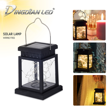 Small Palace Lantern Solar Outdoor Rainproof LED Garden House Holloween Cemetery Ritual Energy Saving Decoration Flameless Led can charge mini both head energy saving originality led to beam the lantern show meeting wireless move downlights lo463