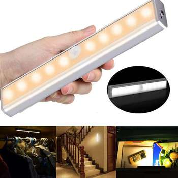 Portable LED Cabinet Light 150/210 Mm Light Cold Warm Lighting With Motion Sensor For Kitchen Cabinet Night Light