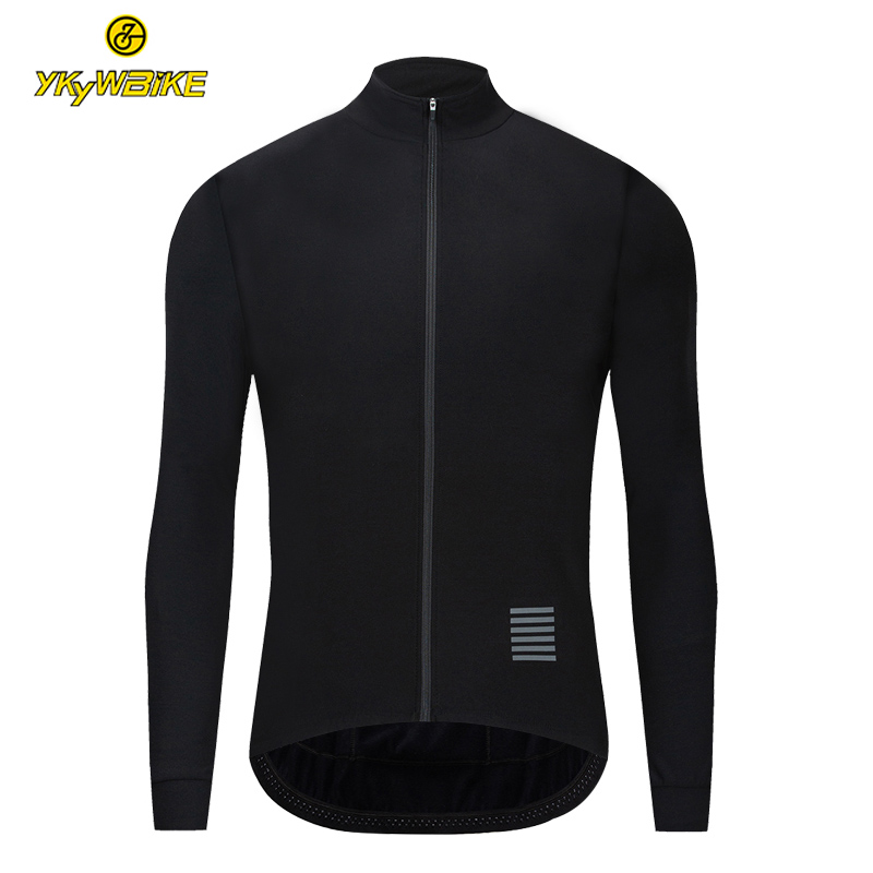 YKYWBIKE Cycling Jersey Men Thermal Fleece Winter High Quality Maillot Ciclismo MTB Bike Clothing Long Sleeves Keep Warm Jersey