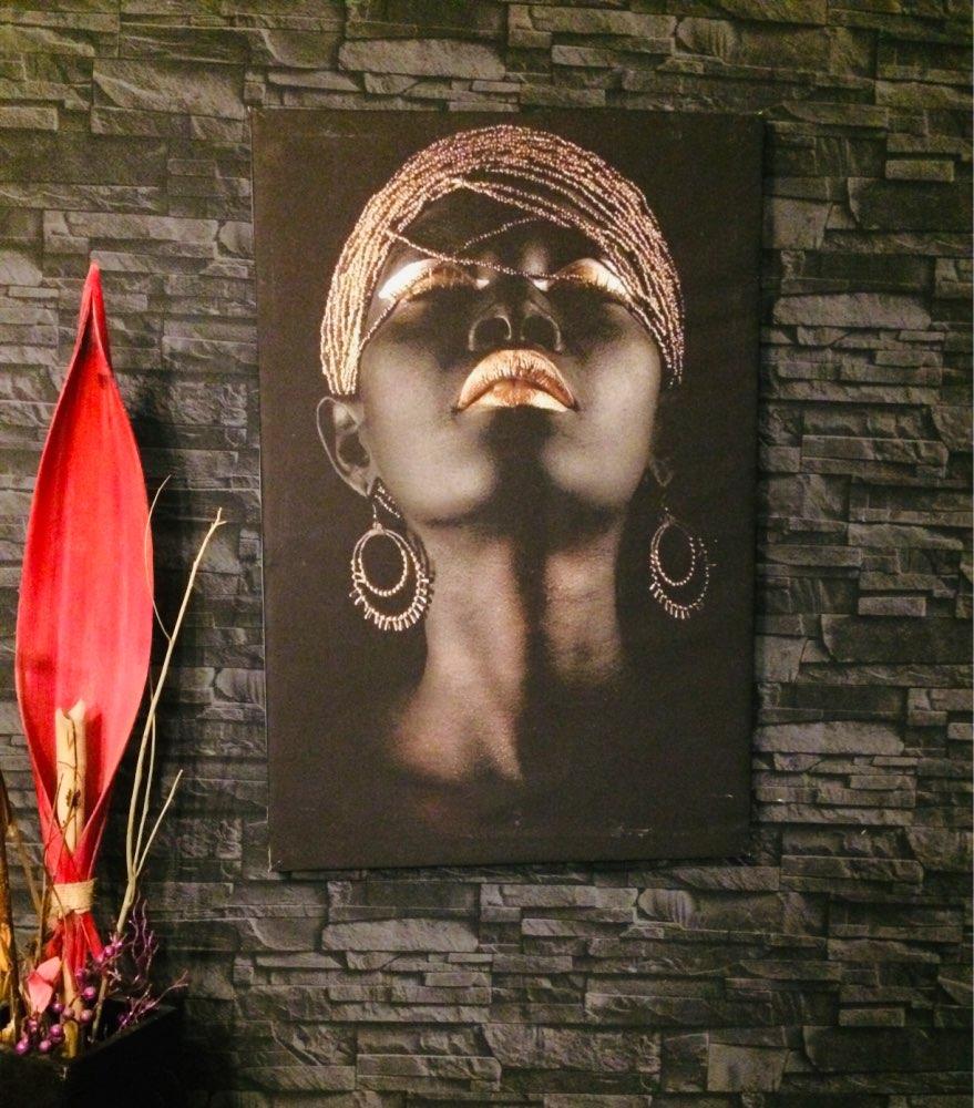 """יחידה במינה #2 תמונה אפריקאית על קנבס מק""""ט 667661 photo review"""