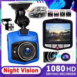 Car Dvr Video Recorder Dash Cam Rear View Dual Camera 2.4 Inch Dashcam 1080 Dash Camera DVR Mini Night Vision Video Registrator