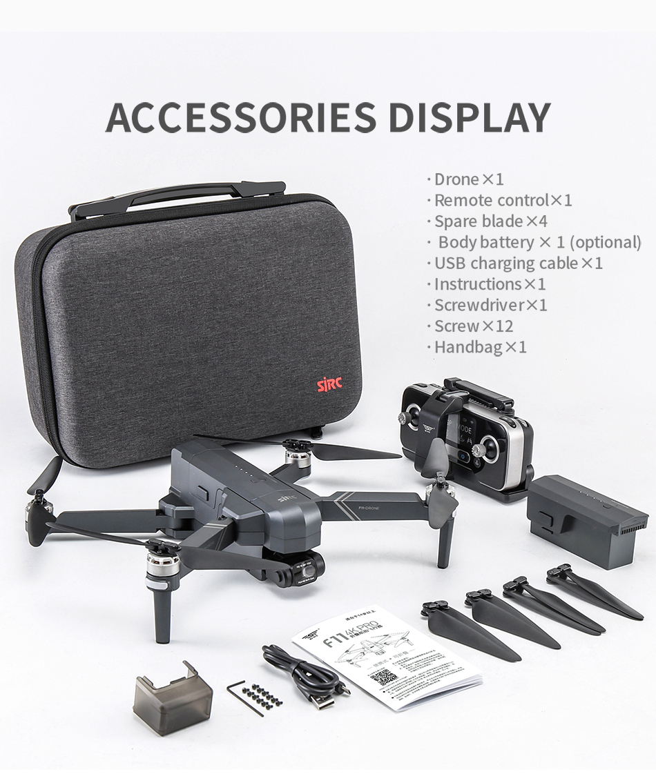 Uc955bc7fe99f4f49b7c85249f3f49946u - NEW SJRC F11S 4K PRO Video Camera Drone Professional GPS 2Axis Mechanical EIS Gimbal Quadcopter Brushless Dron Max Flight RC 3KM