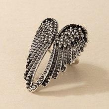 Tocona-кольцо в стиле панк с большим покрытием из сплава, цвет серебро, сердечко, танцевальная бижутерия для женщин