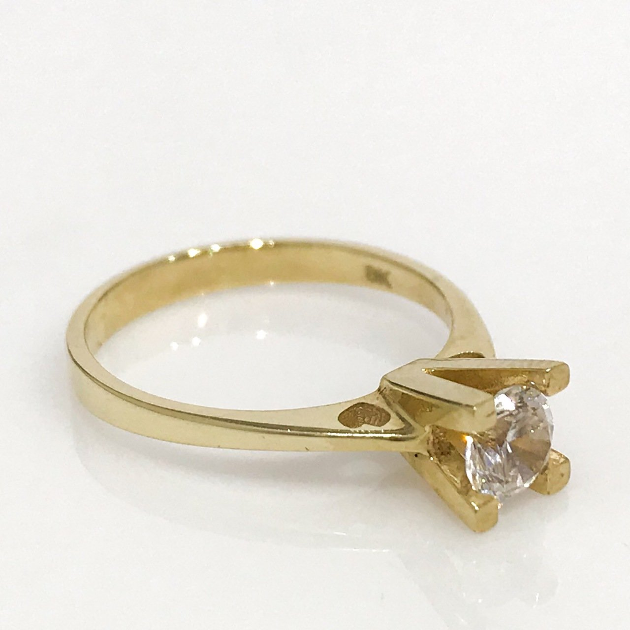 Double Heart Engagement Gold Ring