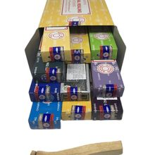 10 incense of SATYA assorted fragrances best selling + PALO SANTO meditacion aromatherapy cleanses