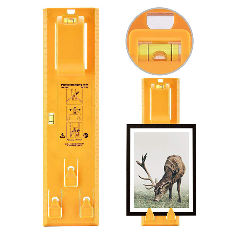 ABS Photo Frame Ruler Spirit Level Angle Gauge Finder Picture Hanging Kit Measuring Ruler For Hanging Picture
