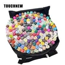 Маркеры Touchfnew 30 40 60 80 168 цветов, маркеры для рисования, перманентные маркеры для набросков, двойной наконечник на масляной основе