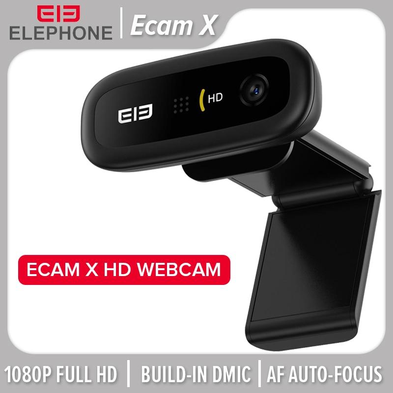 ELE Ecam X 1080P HD Webcam 5.0 MegaPixels Auto Focus Built-in Microphone For PC Laptop Tablet TV Online Course Studying Elephone