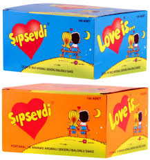 LOVE IS BUBBLE CHEWING GUM ORANGE AND PINEAPPLE and Banana VALENTINE GIFT COMICS best 200 x image